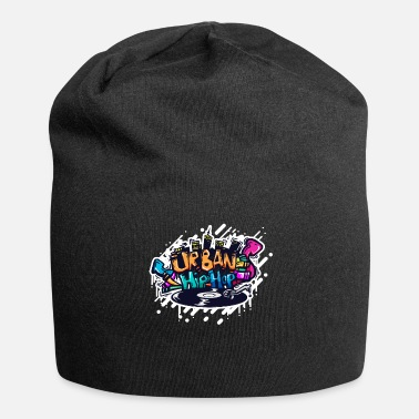 Turntable DJ GRAFFITI TURNTABLE - Gorro holgado de tela de jersey
