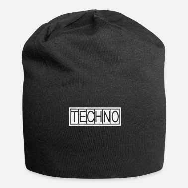 Techno Bass TECHNO Bass Musik - Jersey-Beanie