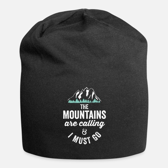 National Park Caps & Hats - The Mountains Are Calling And I Must Go National - Beanie black