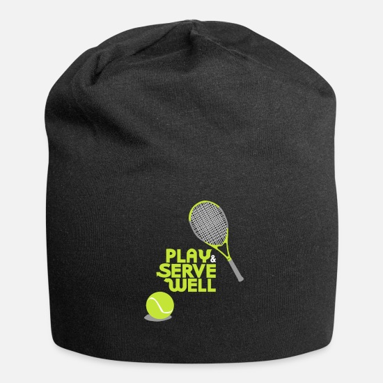 Tennis Match Caps & Hats - Tennis - Play and serve well - Beanie black