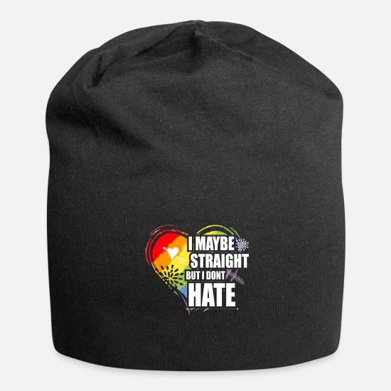 Gay Pride Caps & Mützen - LGBT Straight but i don´t Hate. - Beanie Schwarz