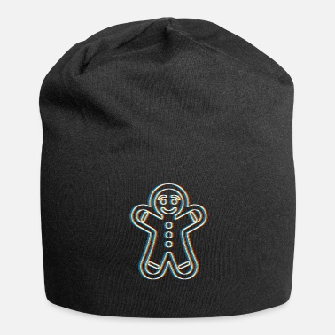 Psy-trance Psychedelic Gingerbread Man Psy Trance Music - Jersey Beanie