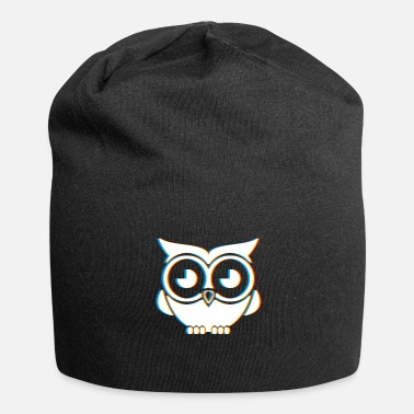 Psy-trance Psychedelic Owl Gift | Psy Trance Music Trippy - Jersey Beanie
