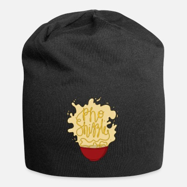 Asian Food Pho Food Asian Noodle Shizzle Food Gift - Jersey Beanie