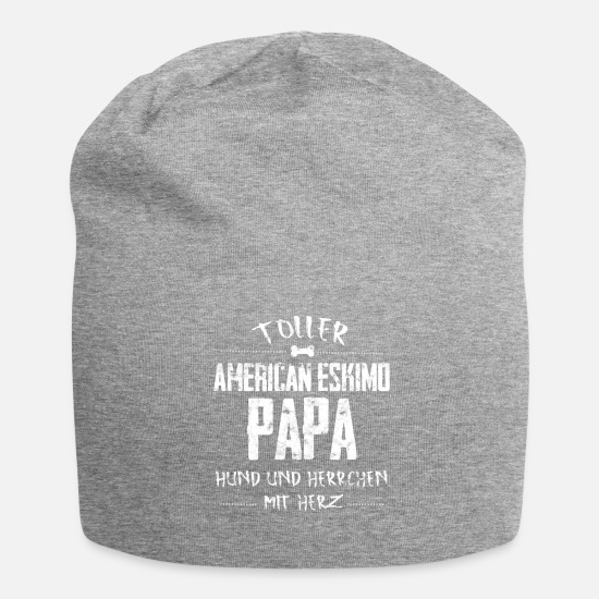 American Caps & Hats - American Eskimo dog Dear daddy heart - Beanie heather grey