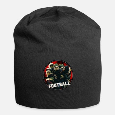 Graphic Art Cool Football Season Red Art Graphic Jeugdhelm - Jersey-Beanie
