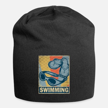 Rana Swim Retro Vintage Old Gift Glasses - Beanie in jersey