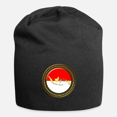 Schland Mappa di bandiera dell'Indonesia - Beanie in jersey