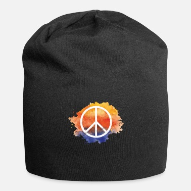 Symbol Symbol peace gift world peace hippie - Beanie