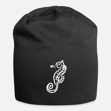 Deep Sea horse fish tattoo marin gift - Jersey Beanie