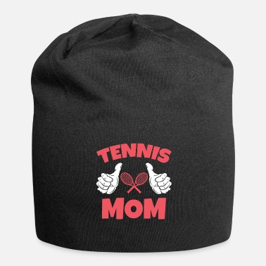Giocare Tennis Mom Mom Gioca a Tennis Gift Funny - Beanie in jersey