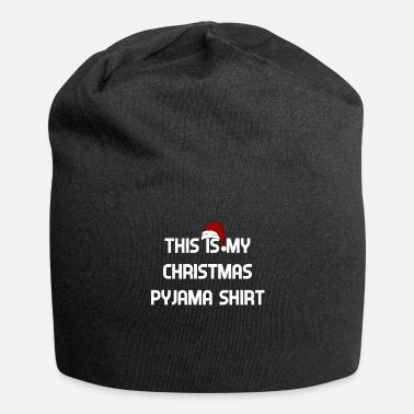Super Christmas Pajama Minimal Shirt - Beanie in jersey
