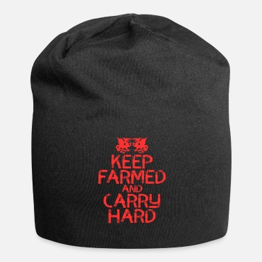 Semplice Design Keep Farmed And Carry Hard. Fai un - Beanie in jersey
