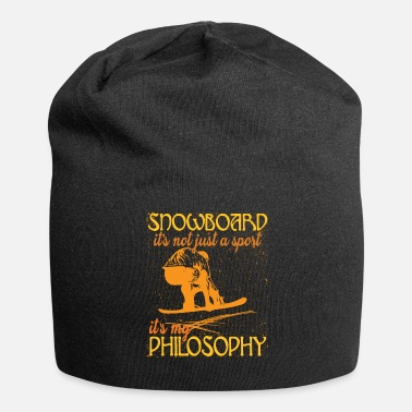 Philosophy Of Life Snowboard life happiness philosophy - Jersey Beanie