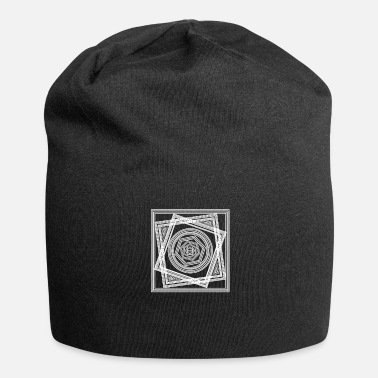 Graphic Art Geometric Abstract Shapes Graphic Art - Beanie