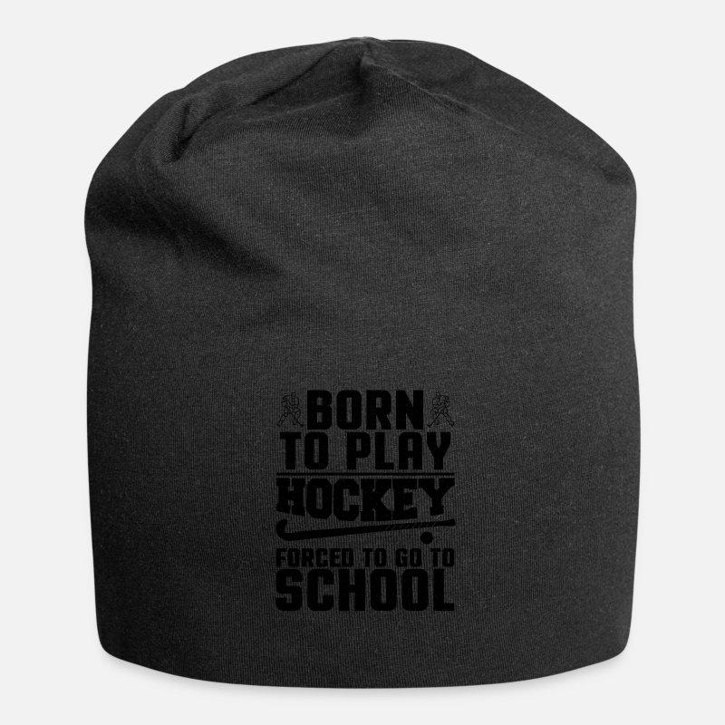 aa2396f00c34fc Hockey Team Caps & Hats - Hockey Born to Play Ice Hockey - Beanie black