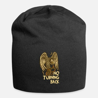 Eagle Versus Snake No Turning Back Gift Idea - Jersey Beanie
