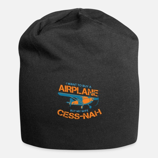 Small Caps & Hats - Airplane Pilot Klein Aviator Funny Gift - Beanie black