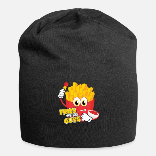 Birthday Caps & Hats - Fries Before Guys Girl Guys Fries Gift - Beanie black