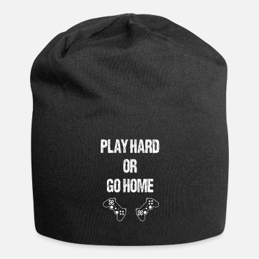 Strikeforce Play hard or go home gamer nerd t-shirt gift - Jersey Beanie