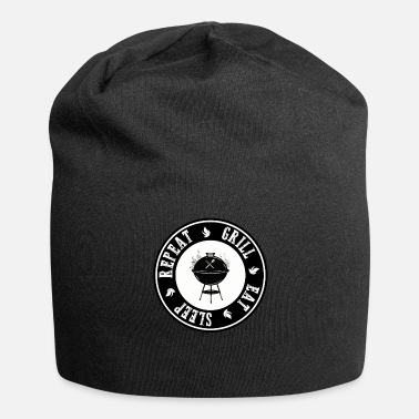 Speck Eat Sleep Grill Repeat BBQ BBQ Fans Gift - Beanie in jersey