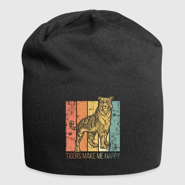 Tiger roofdier - Jersey-Beanie