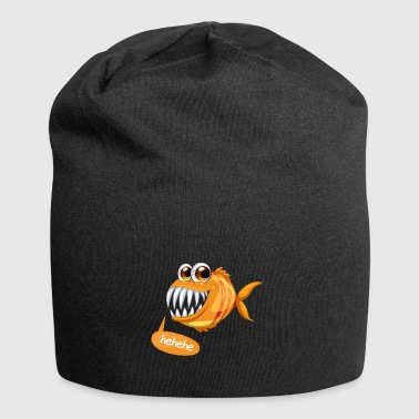 Fish | Add Text | Instructions in Design Description - Jersey Beanie