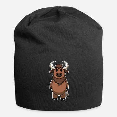 Bisonte Animal Kid Bison Bull Carino dolce regalo - Beanie in jersey