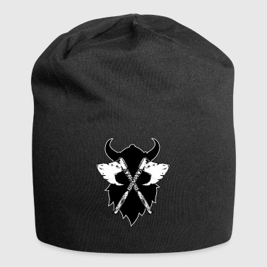 new Viking's Viking ax, greeting from Walhall black - Jersey Beanie