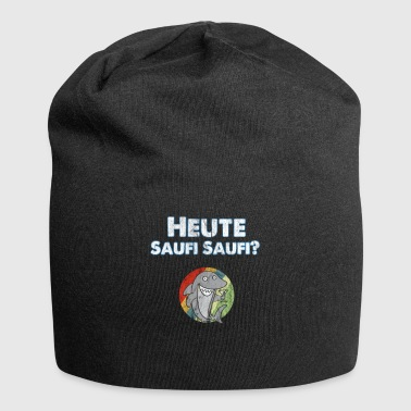 Hai with funny party saying, Today Saufi Saufi - Jersey Beanie