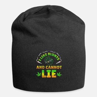 Stoner Smoke Weed Cannabis Hash Dope Ganja Joint Blunt - Jersey Beanie