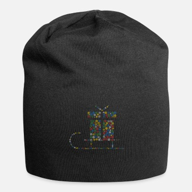 Form Snowflakes ordsky i slædeform (christmass - Jersey-Beanie