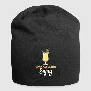 Calm Keep Calm and Enjoy Cocktail lover Gift - Jersey Beanie