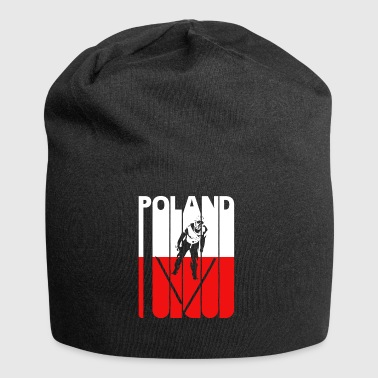 Vintage Skiing.Ski Jumping.Winter Sports Poland - Jersey-beanie