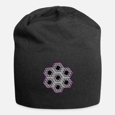 Psychedelic Geometry - Dice Mandala - Psychedelic - Goa - Jersey Beanie