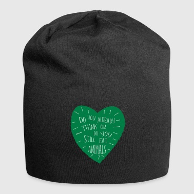 Provocative VEGAN saying - Jersey Beanie