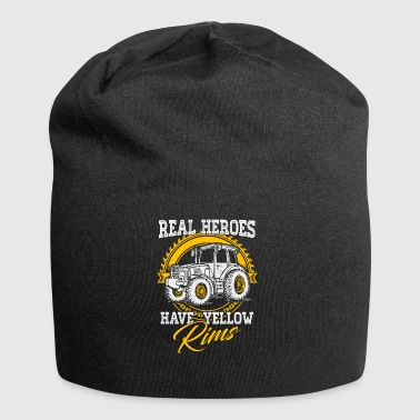 farmer tractor yellow rims - Jersey Beanie