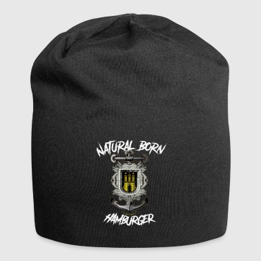 Natural Born Hamburger-zilver - Jersey-Beanie