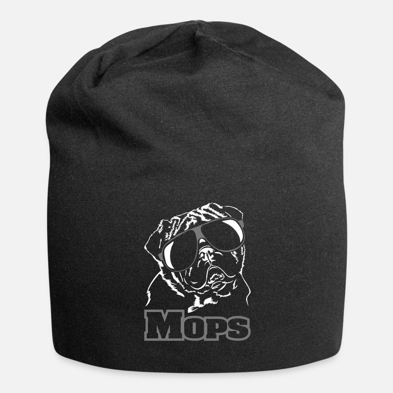 Dog Friend Caps & Hats - PUG funny cool wilsigns dog dogs gift idea - Beanie black