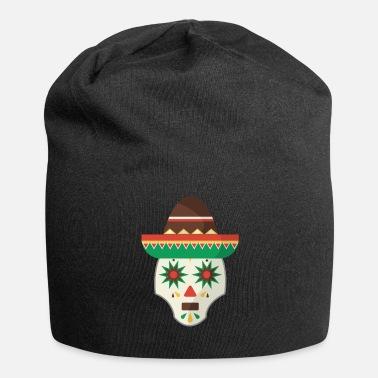 Mariachi Mariachi de calavera de azucar mexicana - Beanie 616ea9e37fc