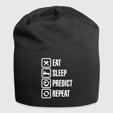 Eat Sleep Predict Repeat - Beanie in jersey