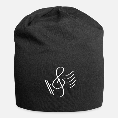 Clef Music clef with tablature gift idea - Jersey Beanie