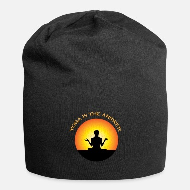Lotus Position Yoga lotus position - Jersey Beanie