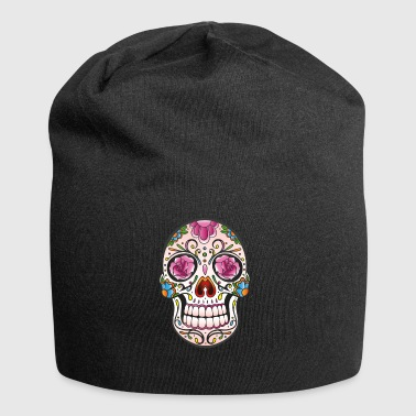 Mexican Sugar Skull, day of the dead - Jersey Beanie