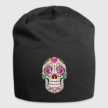 Traditionele Mexicaanse sugar skull - Jersey-Beanie