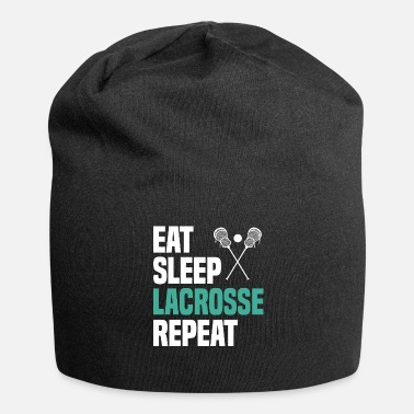 Best Eat Sleep Lacrosse Shirt Kids Meme Regalo - Gorro holgado de tela de jersey