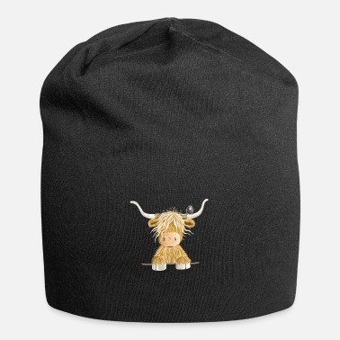 Highland Funny Scottish Highland cow cow gift - Beanie