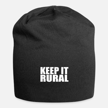 Rural Keep it rural farming quote Copy - Jersey Beanie
