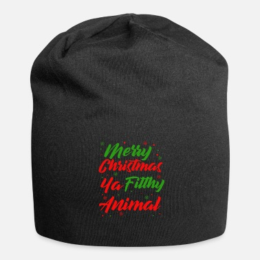 Dirty Sayings Christmas | Christmas saying dirty animal - Jersey Beanie