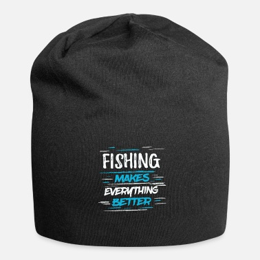 Deep Cool Funny Kids Men Fishing Angler Shirt Joke - Jersey Beanie